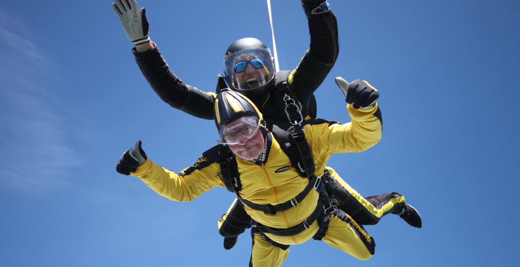 Oudste skydiver ooit